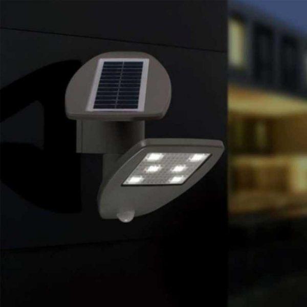 Настенный светильник на солнечной батареи