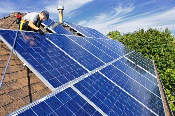 Монтаж солнечной батареи