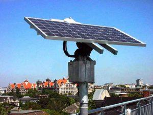 Солнечные батареи в городе
